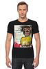 """Футболка Стрэйч (Мужская) """"Jean-Michel Basquiat"""" - граффити, корона, basquiat, баския, жан-мишель баския"""