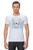 """Футболка Стрэйч (Мужская) """"Hipsta please"""" - очки, модные, хипстер, hipster, модный, хипстота, please"""