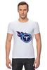 "Футболка Стрэйч (Мужская) ""Теннесси Тайтанс"" - огонь, логотип, nfl, американский футбол, american football, нфл, теннесси тайтанс, titans"