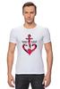 """Футболка Стрэйч """"Красный якорь"""" - море, якорь, anchor, sailor"""