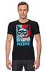 """Футболка Стрэйч (Мужская) """"Угрюмый Кот"""" - мем, постер, grumpy cat, nope, угрюмый кот"""
