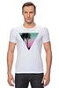 "Футболка Стрэйч ""Miami Triangle"" - пальмы, miami, майами"