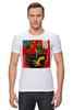"""Футболка Стрэйч (Мужская) """"Basquiat"""" - граффити, робот, basquiat, баския, жан-мишель баския"""