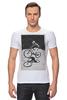 """Футболка Стрэйч (Мужская) """"девушка на велосипеде"""" - спорт, bmx, велосипед, street, bike, стрит, biking, велоспорт, девушка на велосипеде, дерт"""