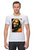"Футболка Стрэйч (Мужская) ""Боб Марлей (Bob Marley)"" - регги, боб марли, bob marley, reggae, ska, jamaica"