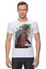 """Футболка Стрэйч (Мужская) """"Godzilla """" - кино, иероглифы, годзилла, godzilla, kinoart"""