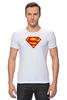 """Футболка Стрэйч (Мужская) """"Супермен"""" - comics, супермен, superman"""