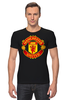 "Футболка Стрэйч (Мужская) ""Manchester United "" - красные, манчестер юнайтед, red devils, mu, manchester united, красные дьяволы, the reds, мю"