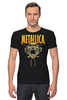 "Футболка Стрэйч (Мужская) ""Metallica"" - heavy metal, metallica, трэш, металлика, хэви метал"