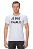 "Футболка Стрэйч (Мужская) ""JE SUIS CHARLIE"" - france, франция, шарли, je suis charlie, i am charlie"