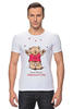 """Футболка Стрэйч (Мужская) """"Happy Valentnine's Day"""" - bear, медведь, мишка, обними меня, hug me"""