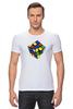 """Футболка Стрэйч (Мужская) """"Кубик рубика """" - арт, игра, ретро, rubik's cube"""