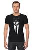 "Футболка Стрэйч (Мужская) ""Мистер Волк"" - стиль, волк, wolf, бизнес, suit"