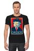 "Футболка Стрэйч (Мужская) ""Лего Президент"" - президент, lego, постер, лего"
