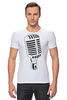 "Футболка Стрэйч ""Микрофон"" - музыка, микрофон, хип хоп, реп, джаз, mic"