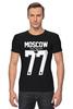 "Футболка Стрэйч (Мужская) ""MOSCOW 77"" - москва, moscow, путин, столица, designminisrty"