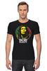 "Футболка Стрэйч ""Bob Marley"" - регги, боб марли, bob marley, reggae, ска"