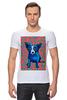 "Футболка Стрэйч (Мужская) ""Синий Пес"" - сердце, dog, пес, собака, blue dog"