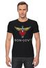 """Футболка Стрэйч """"Bon Jovi"""" - bon jovi, бон джови"""