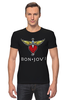 "Футболка Стрэйч (Мужская) ""Bon Jovi"" - bon jovi, бон джови"