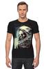 """Футболка Стрэйч (Мужская) """"мертвый космос"""" - skull, череп, space, космос, astronaut, death, смерть, dead, космонавт"""
