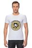 """Футболка Стрэйч (Мужская) """"Питтсбург Пингвинз """" - хоккей, nhl, нхл, питтсбург пингвинз, pittsburgh penguins"""