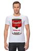 """Футболка Стрэйч (Мужская) """"Campbell's Soup (Энди Уорхол)"""" - поп арт, энди уорхол, pop art, andy warhol, campbell's soup"""