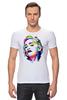"""Футболка Стрэйч """"Мадонна (Madonna)"""" - madonna, мадонна, полигоны, polygons"""
