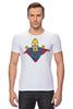 "Футболка Стрэйч (Мужская) ""Гомер Супермен"" - superman, симпсоны, the simpsons, gomer simpson, гомер супермен"