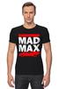 "Футболка Стрэйч (Мужская) ""Безумный Макс (Mad Max)"" - mad max, безумный макс, дорога ярости"