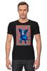"""Футболка Стрэйч (Мужская) """"Синий Пес"""" - сердце, любовь, собака, синий пес, blue dog"""