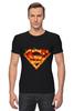 """Футболка Стрэйч (Мужская) """"Супермен"""" - comics, комикс, superman, супергерой, dc, superhero"""
