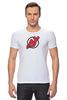 """Футболка Стрэйч """"NJ Devils"""" - хоккей, спортивная, nhl, нхл, devils, нью джерси, nj"""