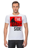 "Футболка Стрэйч ""Dark Side"" - darth vaider, the dark side, star wars, звездные войны, темная сторона"