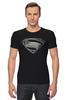 "Футболка Стрэйч (Мужская) ""Супермен (Superman)"" - супермен, superman"