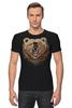 """Футболка Стрэйч (Мужская) """"Пиксельный Медведь"""" - bear, медведь, pixel art, пиксели, 8 бит"""