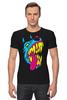 """Футболка Стрэйч (Мужская) """"Радиоактивный пес"""" - футболки с собаками, креативные футболки с собакой купить, разноцветные собаки"""
