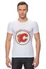 "Футболка Стрэйч (Мужская) ""Calgary Flames,"" - хоккей, nhl, нхл, калгари флеймз, calgary flames"