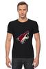 """Футболка Стрэйч (Мужская) """"Arizona Coyotes"""" - хоккей, nhl, arizona coyotes, койот, аризона койотис"""