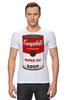 """Футболка Стрэйч (Мужская) """"Campbell's Soup (Энди Уорхол)"""" - поп арт, энди уорхол, pop art, andy warhol"""