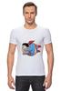"Футболка Стрэйч ""Fat Superman"" - супермен, superman, обжорство"