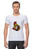 """Футболка Стрэйч (Мужская) """"Ottawa Senators"""" - хоккей, nhl, ottawa senators, канада, оттава"""
