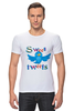 "Футболка Стрэйч ""Sweet tweets"" - social network, twitter, твиттер, little bird, чирикать, микроблоггинг"