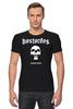 "Футболка Стрэйч (Мужская) ""Bastardos"" - skull, череп, music, metal, рок, rock, метал, металлист, metalhead, thrash metal"