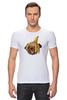"""Футболка Стрэйч """"Мопс и банановая кожура"""" - pug, пёс, банан, мопс, банановая кожура"""