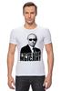 """Футболка Стрэйч """"Путин - я читаю ваши мысли!"""" - москва, россия, путин, президент, putin"""