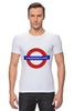 "Футболка Стрэйч (Мужская) ""Underground"" - арт, стиль, рисунок, london, метро, uk, metro, метрополитен, подземка"