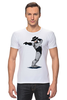 """Футболка Стрэйч (Мужская) """"Robocop x Jackson"""" - пародия, майкл джексон, mj, robocop, робот полицейский"""