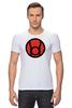 """Футболка Стрэйч """"красный фонарь"""" - comics, red, мультфильм, белый, красный, комиксы, кино, белая, мульт, dc"""