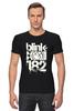 """Футболка Стрэйч (Мужская) """"blink-182 """" - punk rock, smile, панк-рок, blink-182, ava, blink 182, скейт-панк"""